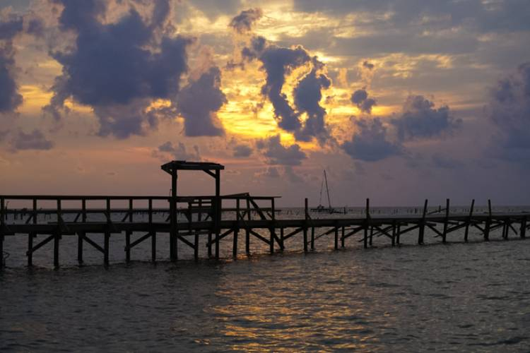 A view of a Rockport pier